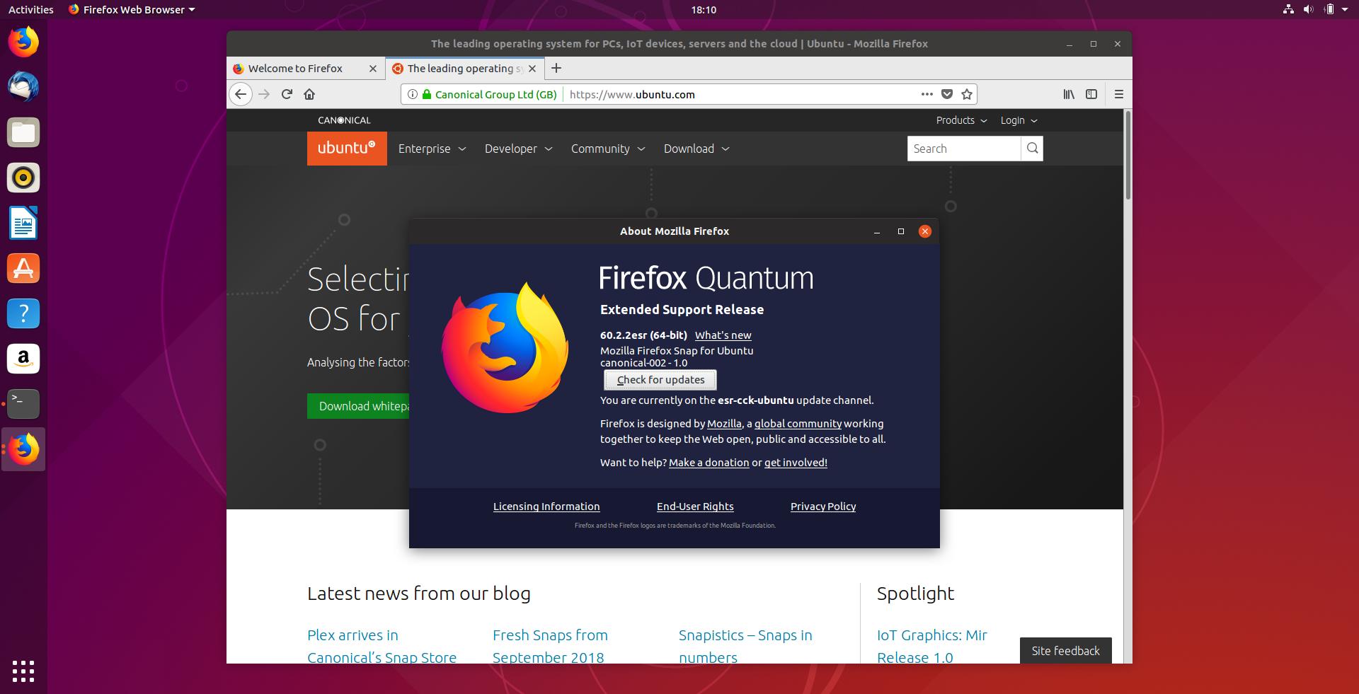 Firefox ESR 60 Availability On Ubuntu